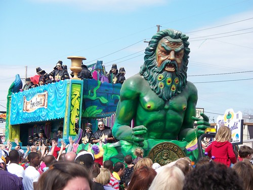 The Krewe of Argus rolls