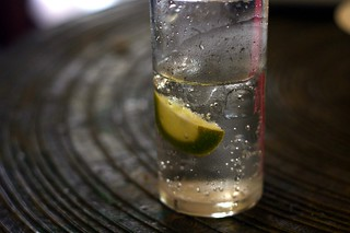 seltzer with lime