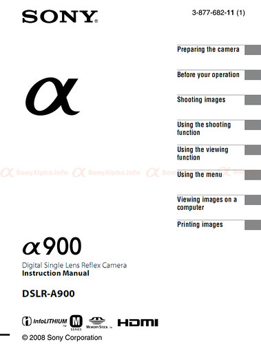 Sony Alpha DSLR-A300 User Manual