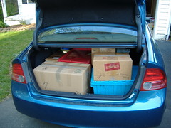 My Trunk on the First Day of Moving Small Stuff