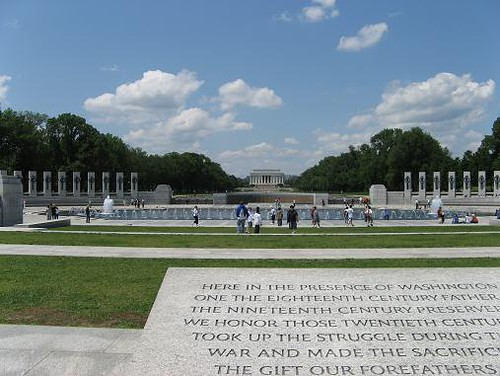 World War II Memorial with Lincoln Memorial