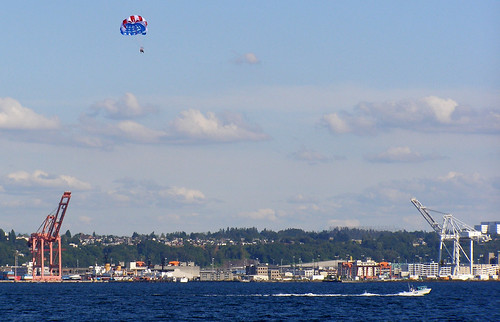 parasailors over the sound