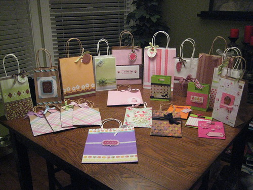 If you give them gift bags, they will decorate them!