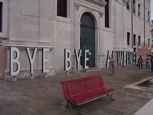BYE BYE AI WEIWEI Venice