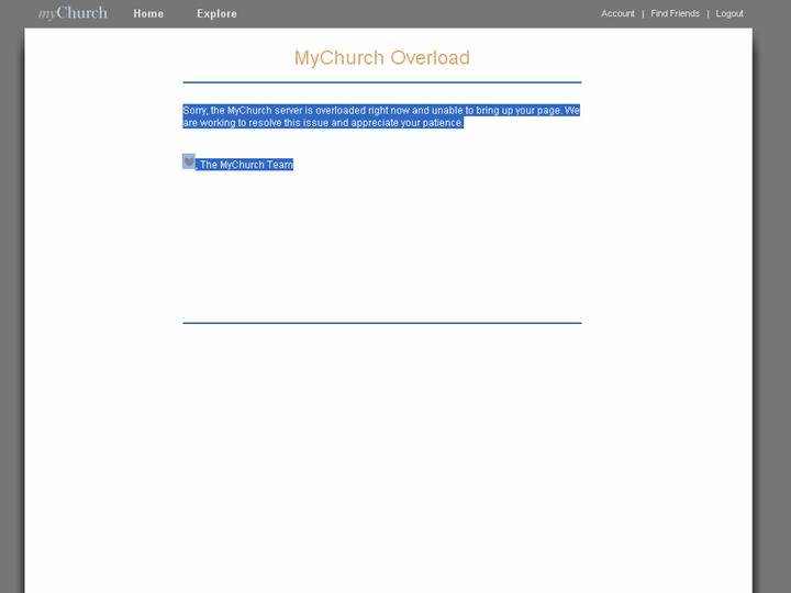 MyChurch.org Overload