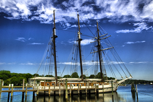 Ship Docked On The Mystic River