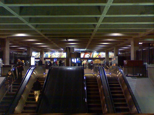 Rosslyn is basically outdoors at the station entrance level, and indoors on the railroad platforms.DanDC photo from Flickr.