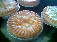 Chicken pies - nicely browned