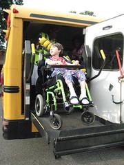 Gwen's first school bus ride