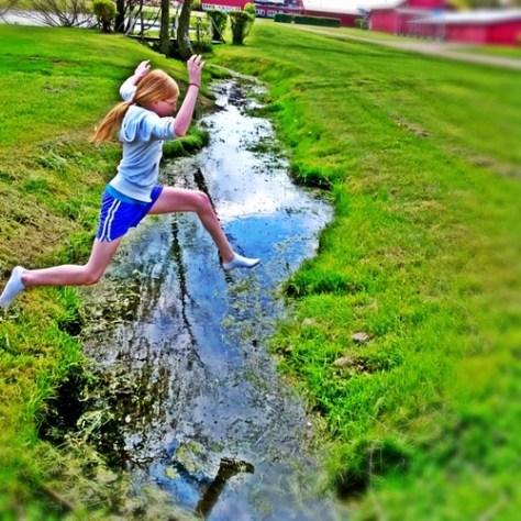 The girl who leaps through life Unafraid by robinmichellewegner