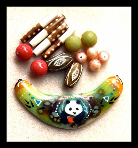 Bead/panda pendant combo that I will be creating a necklace from this week
