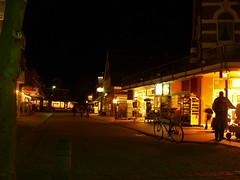 Langeoog - Hauptstrasse bei Nacht