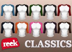 Reek - Baseball Tees - Classics