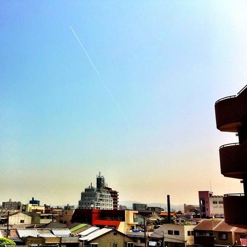 飛行機雲みーつけた♪ #imasora