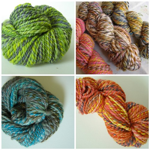 subtle striping yarns