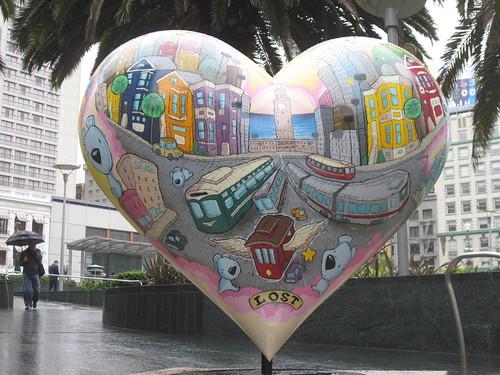 heart in SF Union Square