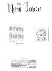 The New Voice page from the 1969 student yearbook