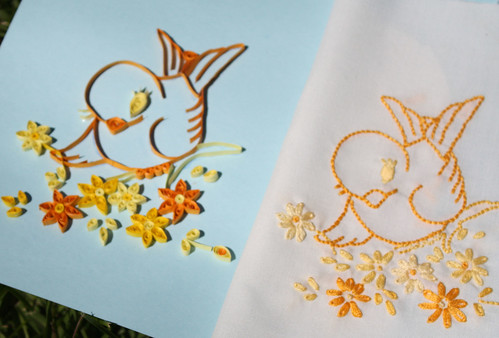 embroidery and quilling