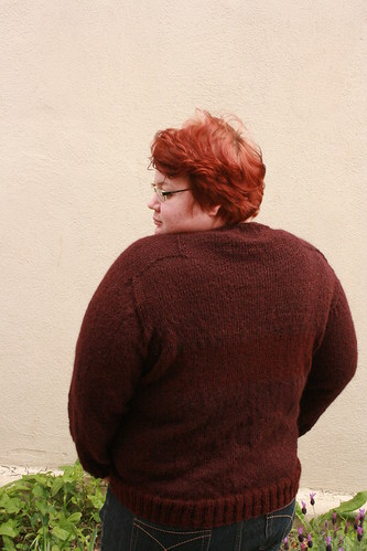 This sweater makes me realize that 1. I REALLY need to dye my hair & 2. I have line backer shoulders!