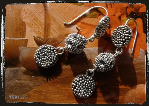 Orecchini argento tibetano girasole - Sunflower tibetan silver IBMEGIR