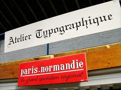 Panneau de l'atelier typographique