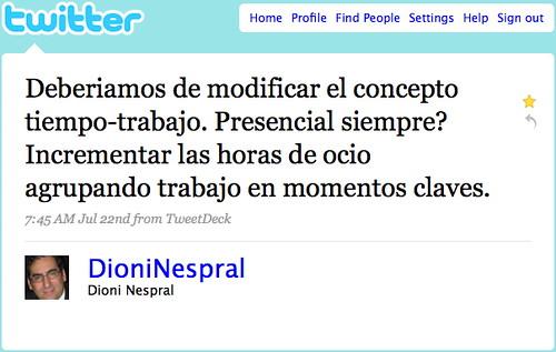 Dioni Nespral en twitter