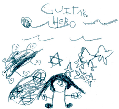 Guitar Hero - Artwork By Sophia