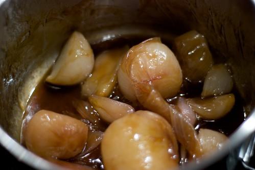 Caramelized shallots