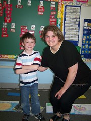 Andrew with his teacher