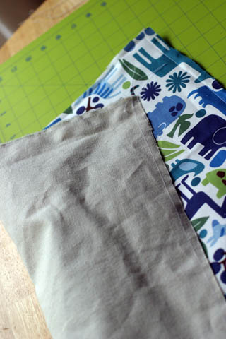 Fabric Box: fabric + canvas sewn together