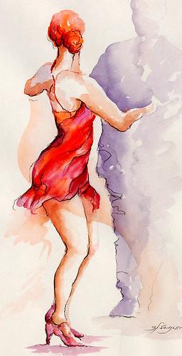 lady in red by segismundoart.