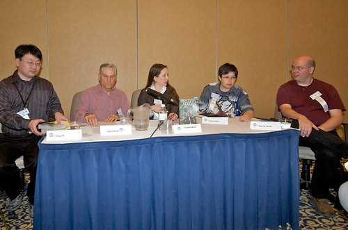 Tony Pi, David Drake, Violette Malan, Fiona Patton and Rob St. Martin at Ad Astra