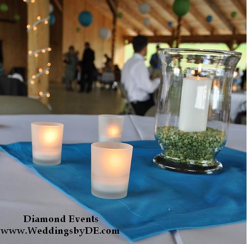 Candle and Pea Centerpieces