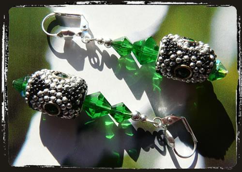 Orecchini verdi - Green earrings AIMEKAV