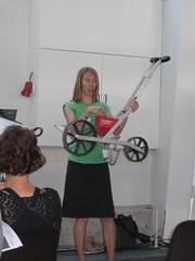 """Paula Sobie explaining the """"seeder"""""""
