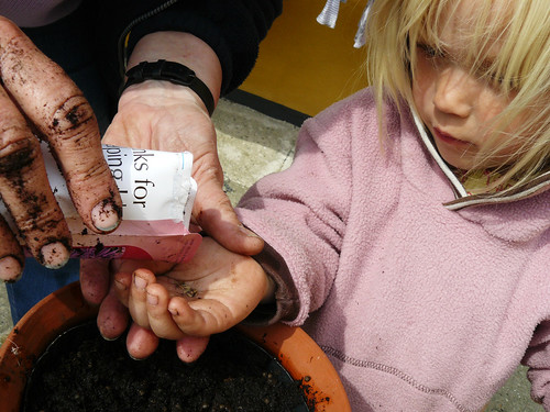 Sowing seeds with Mormor