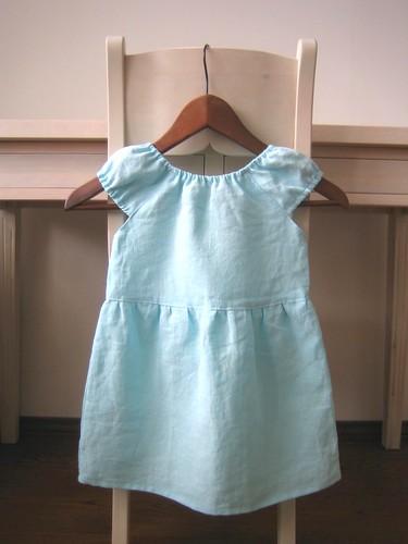 linen dress back
