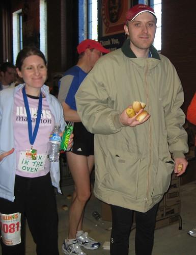 Rob & Melissa getting food