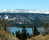 From high mountain over Big Bear Lake toward higher snow mtns by Jan's_Photos