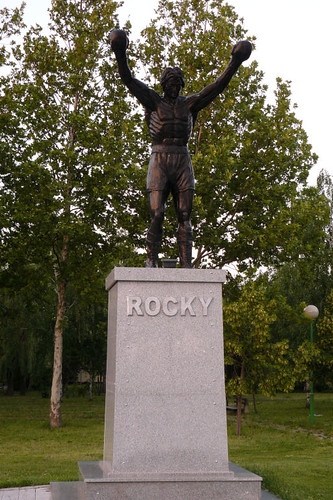 never seen before a statue of Rocky until now...
