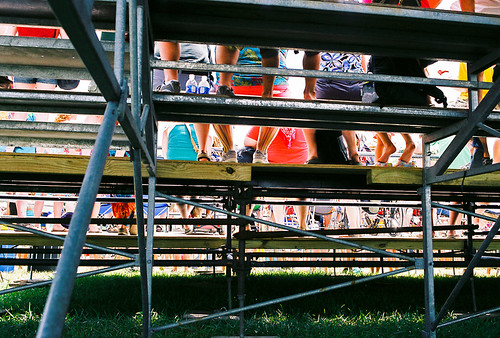 The view from under the bleachers at the Which Stage (second main stage). Trippy? A little. Was I tripping? Hell no.