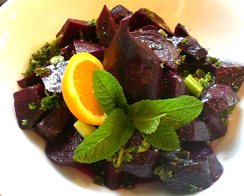 Vinaigrette Home Made Cooked Beet Salad
