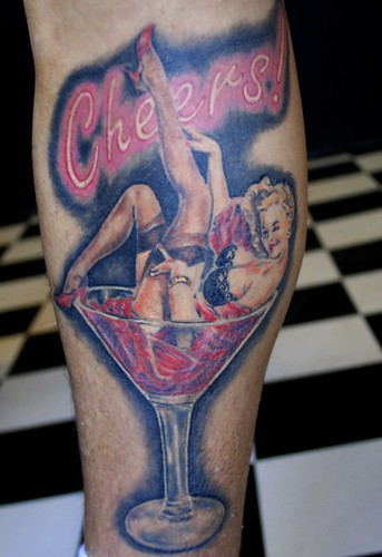 pin up tattoo by Mirek vel Stotker