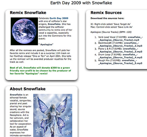 ccMixter - Earth Day 2009 with Snowflake