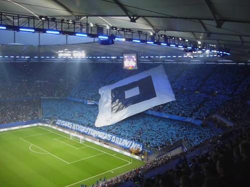 Die HSV-Raute im Stadion