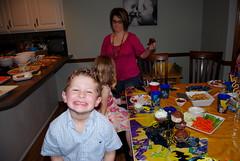 Nicholas & Lizzie at Jacob's 6th birthday party.