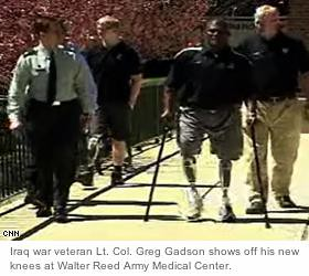 Lt. Col. Greg Gadson has two bionic knees