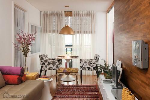 apartamentos pequenos cortinas
