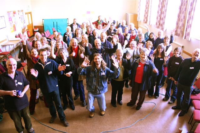 East Anglian Transition gathering March 2009 - Group shot of East Anglian Town people