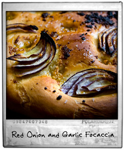 Red Onion and Garlic Focaccia